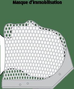 Schéma d'un masque d'immobilisation