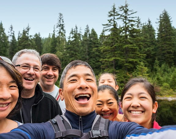 A group of people outdoors.