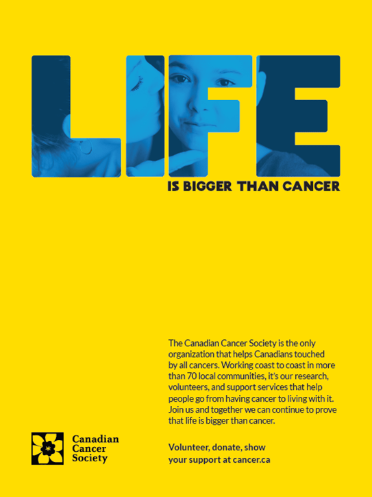 Life is Bigger than Cancer brand ad