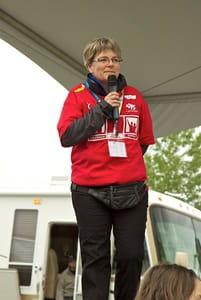 Lucie Cote a CCS volunteer