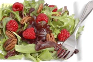 salade de pavot aux framboises