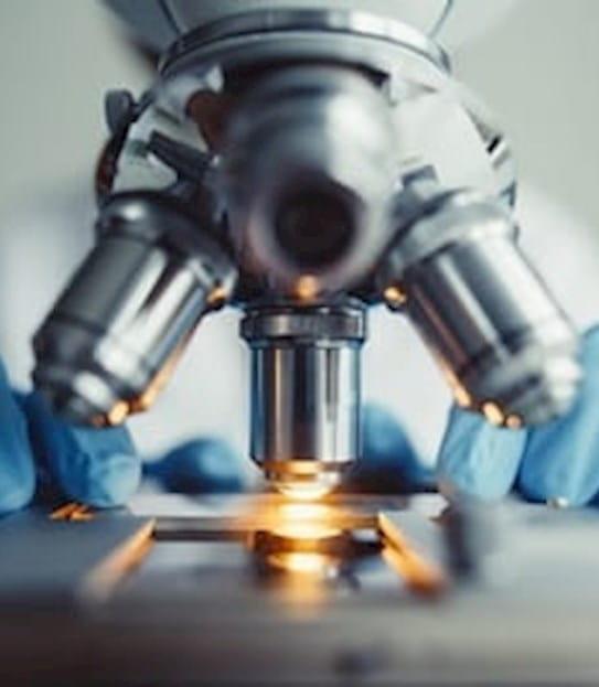 Photo of a microscope