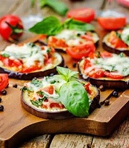 Bruschetta sur aubergine