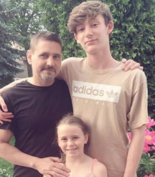 David et sa famille