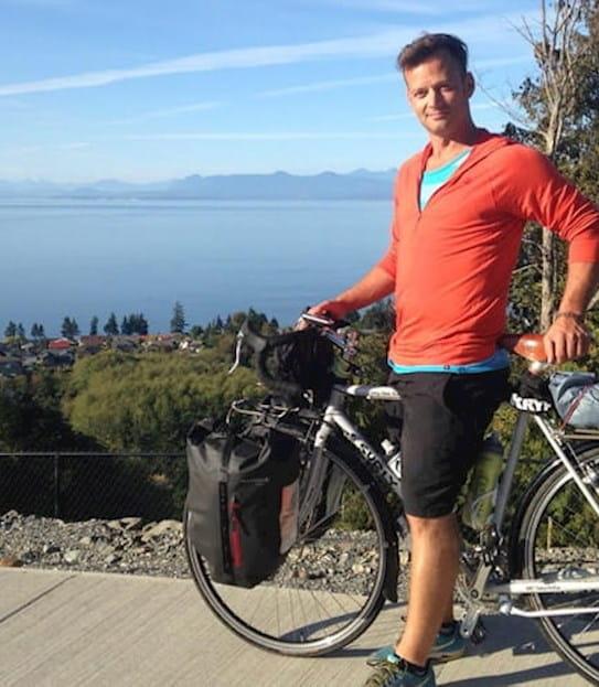 Vincent sur son vélo