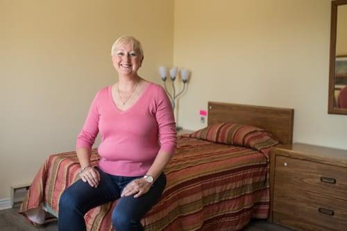 Cynthia à la maison d'hébergement Jacques-Cantin