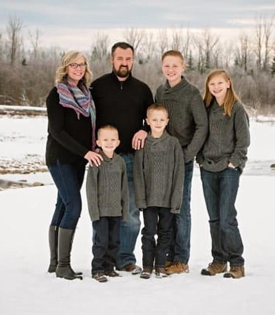 Sandra Blackwell et sa famille