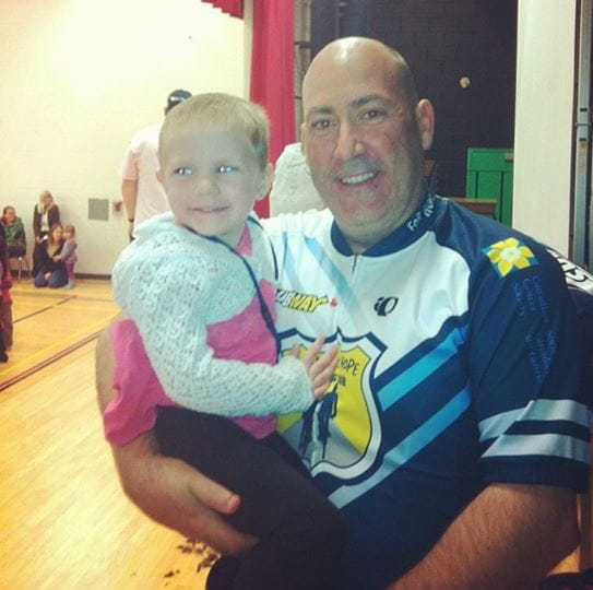 Maci with Police Sergeant John Townsend