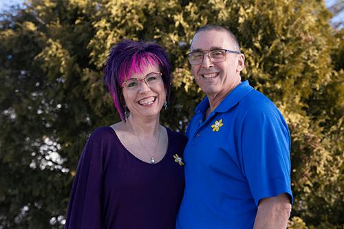 Bonnie et son mari ben souriant