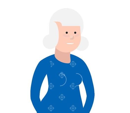 Femme âgée de plus de 75 ans