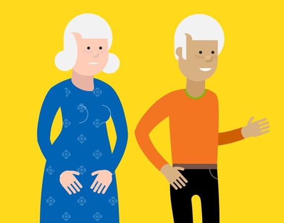 Un couple âgé de plus de 75 ans