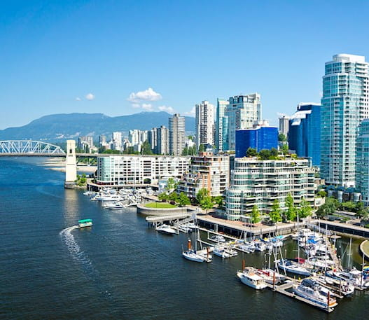 Vancouver skyline on a sunny day