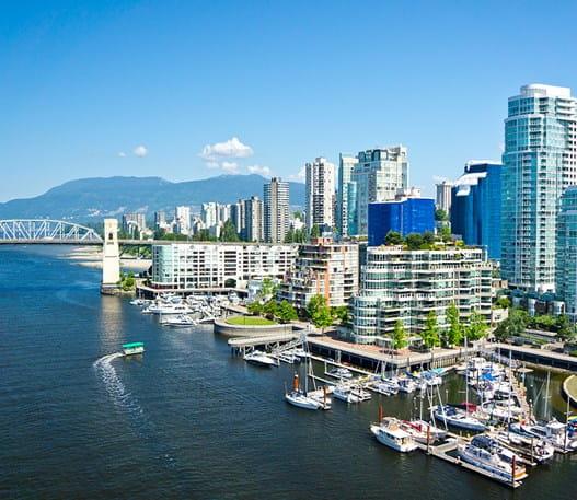 Panorama de Vancouver par une journée ensoleillée
