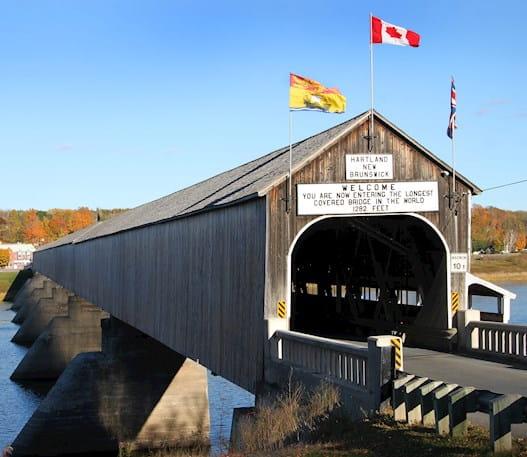 Hartland covered bridge in New Brunswick