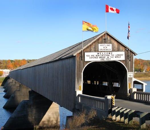 Pont couvert de Hartland au Nouveau-Brunswick