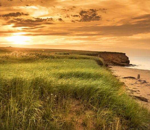 Dalvay Beach at sunset in Prince Edward Island