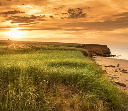 La plage Dalvay au coucher du soleil, Île-du-PrinceÉdouard
