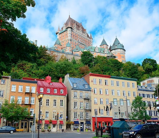 Chateau Frontenac during the day overlooking Old Quebec