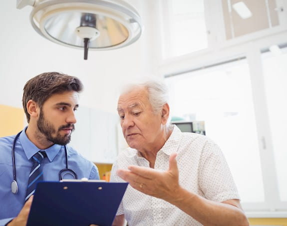 Patient asking their doctor questions