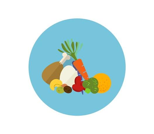 Variété d'aliments sains