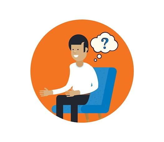 Une personne assise, songeant à une question qu'elle se pose