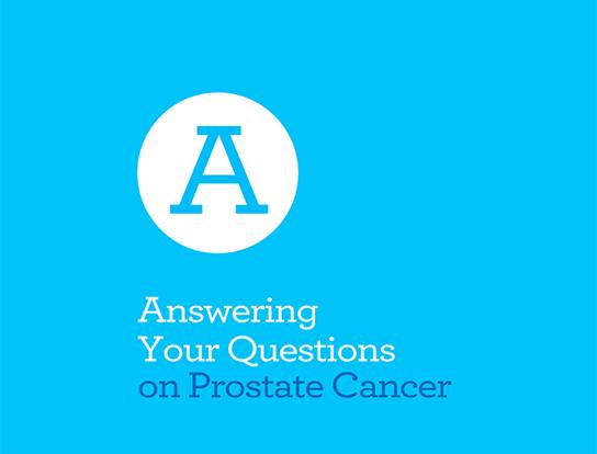 Couverture de la brochure A - Réponse à vos questions sur le cancer de la prostate, prête à télécharger
