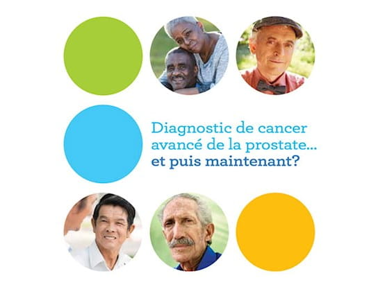 Couverture de la brochure Diagnostic de cancer avancé la prostate… et puis maintenant?, prête à télécharger