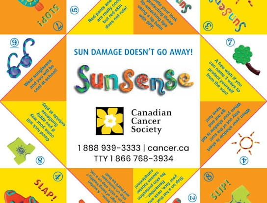 A sun safety activity for kids