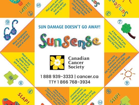 Une activité visant la sécurité au soleil pour enfants