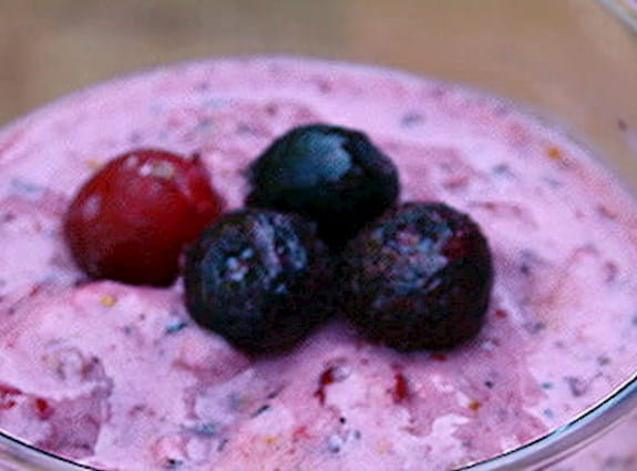 Blueberry cranberry smoothie