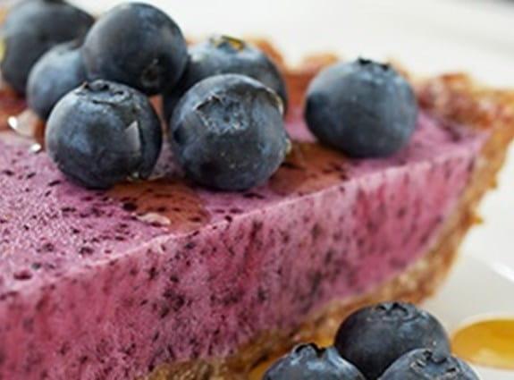 Tarte glacée aux bleuets sans cuisson