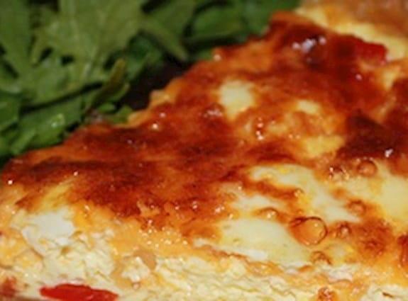 Red pepper quiche