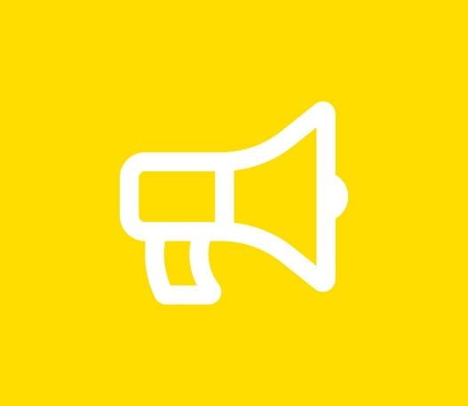 L'icône d'un porte-voix