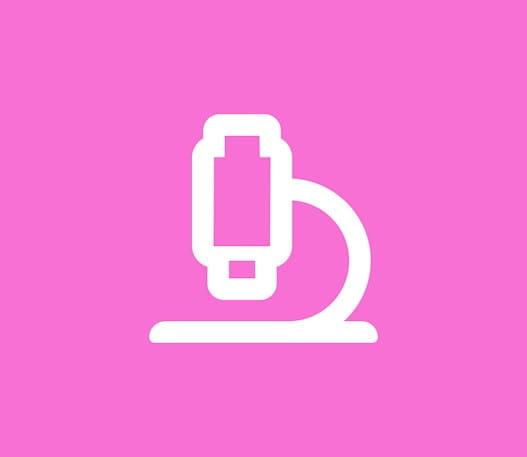 L'icône d'un microscope