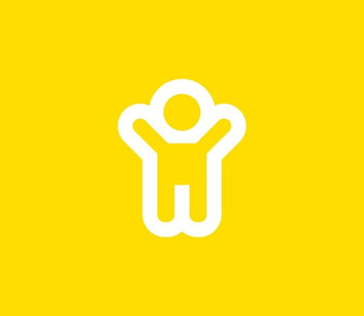 L'icône d'un enfant levant les bras
