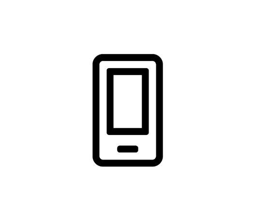An icon of a cell phone.