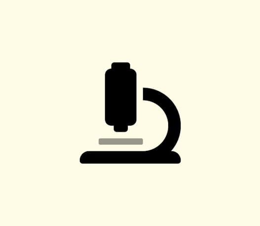 Icon of a microscope.