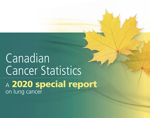 Canadian Cancer Statistics 2020 Special report cover