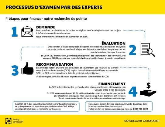 Infographie décrivant notre processus d'examen par des experts en 2019