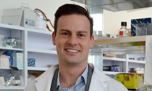 Dr Alexander Wyatt in his lab