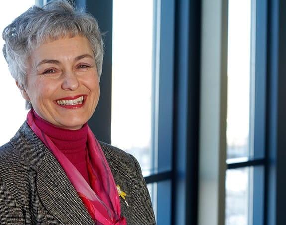 A photo of Dr Christine Friedenreich, a CCS-funded prevention & survivorship researcher,