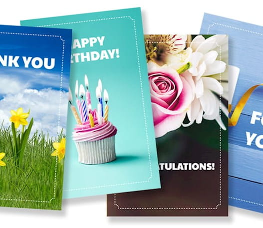 A selection of e-cards